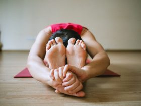 Yoga in the kitchen
